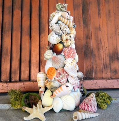 Elle Decor Christmas tips and suggestions Elle Decor Christmas tips and suggestions Elle Decor Christmas tips and suggestions Ballard Designs Seashell Tree 5 405x410
