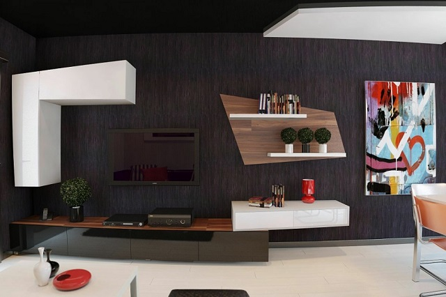 Black: Create a dramatic and beautiful space Black: Create a dramatic and beautiful space Black: Create a dramatic and beautiful space Black Living Room With Colorful Painting 940x626