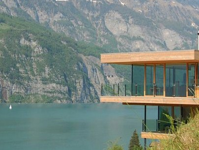 """Wooden house design"" Modern Wooden House Design with view to the Lake Modern Wooden House Design with view to the Lake walensee house 14 405x305"