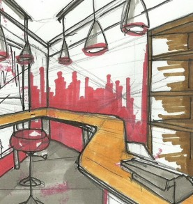 """15 Must Know Interior Designers in Toronto"" 15 Must Know Interior Designers in Toronto 15 Must Know Interior Designers in Toronto interior design sketches interior design my sketches for current project milk bar 277x293"