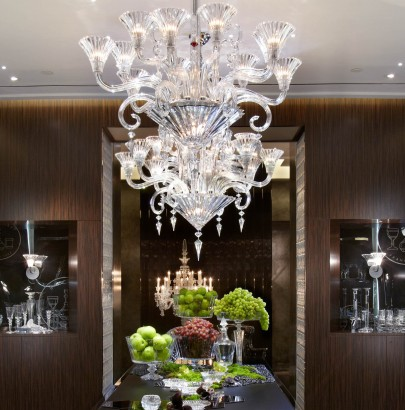 """Interior design trends: Top 10 modern chandeliers"" Interior design trends: Top 10 modern chandeliers Interior design trends: Top 10 modern chandeliers Baccarat NYC Flagship Dining Room 405x410"