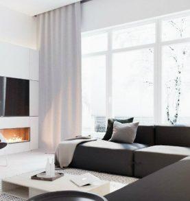 Modern home in Ukraine with minimalist B&W designs modern home Modern home in Ukraine with minimalist B&W designs minimalist black and white interior  feautured 1 277x293