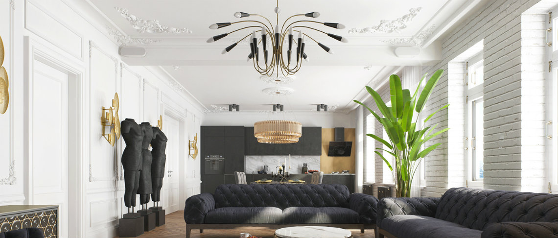 A modern apartment in Kiev with a stunning black decor modern apartment in kiev A modern apartment in Kiev with a stunning black decor A modern apartment in Kiev with a stunning black decor  f