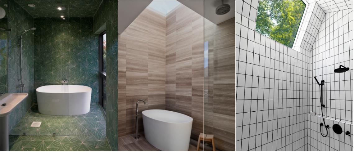 Bathroom Design Ideas- Use the Same Tile On the Floors and Walls 8