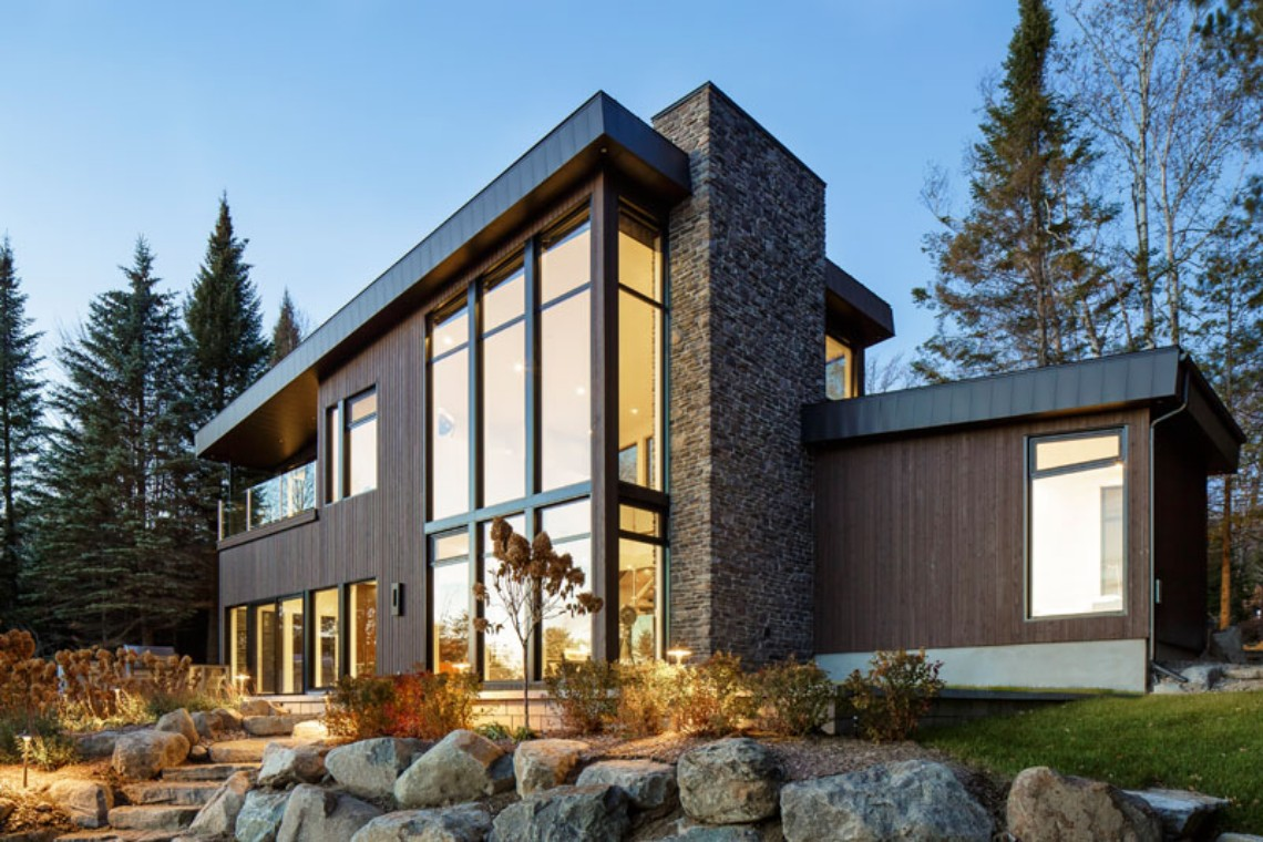 Around the World: Modern Lake House in Canada lake house Around the World: Modern Lake House in Canada Around the World Modern Lake House in Canada 4