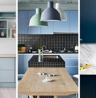 Color Inspiration: Modern Kitchen With Blue Cabinets modern kitchen Color Inspiration: Modern Kitchen With Blue Cabinets Color Inspiration Modern Kitchen With Blue Cabinets 11 405x410