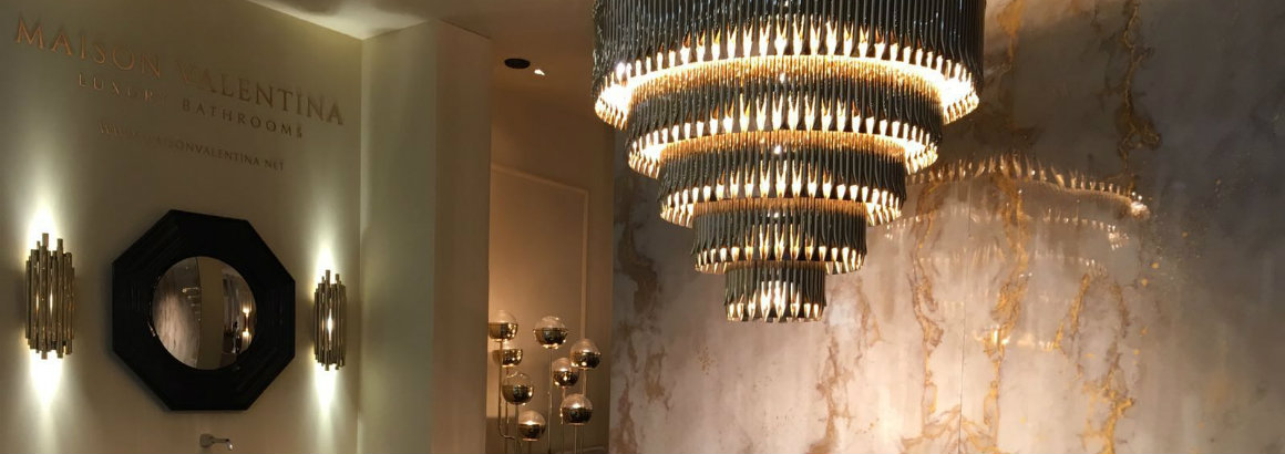 10 Lighting Ideas for a Glamorous Bathroom glamorous bathroom 10 Lighting Ideas for a Glamorous Bathroom Maison Valentina at Maison Objet 1
