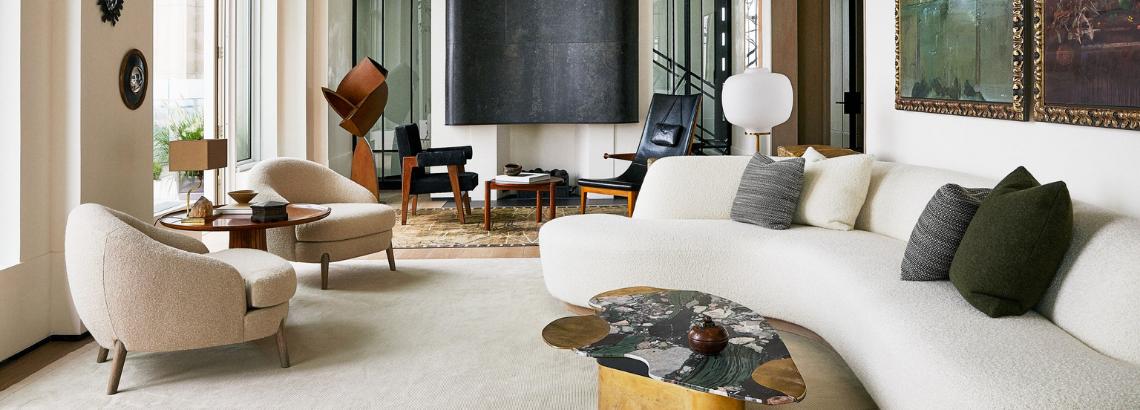 Designer Monique Gibson Designs a Tribeca Aerie in Cream Tones
