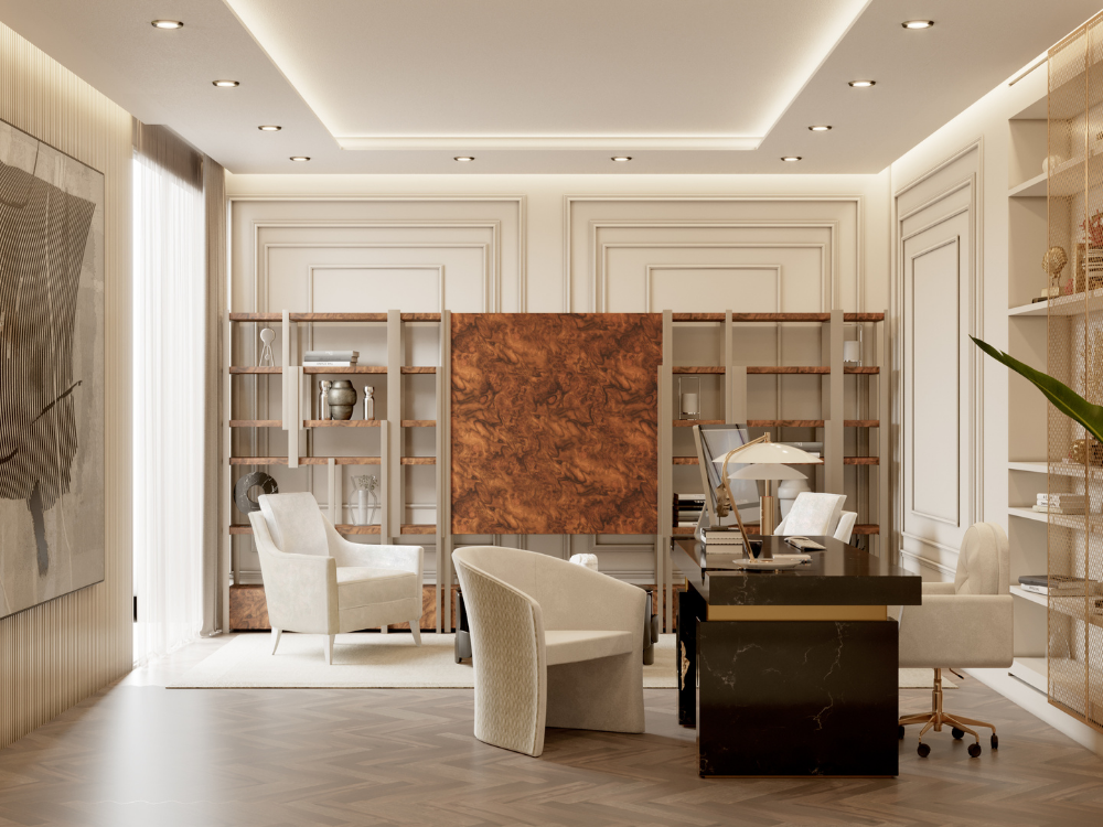 Office contemporary modern Exclusive Office Inside a Contemporary Modern Penthouse in Monaco! 1