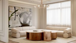 neutral design living room modern Searching for inspiration? Find these Contemporary Modern Interior Designs! MasterBedroom 03 300x169