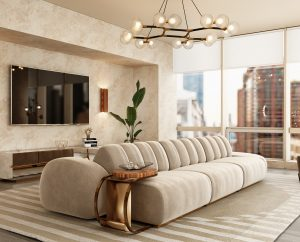 a neutral modern living room cassia sofa modern Searching for inspiration? Find these Contemporary Modern Interior Designs! livingroomcassiasofa 300x242