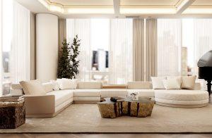 a neutral living room milenio sofa modern Searching for inspiration? Find these Contemporary Modern Interior Designs! livingroommileniosofa 300x196